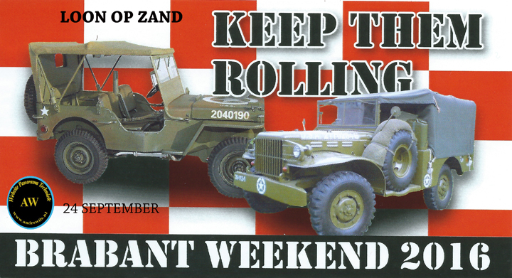 Brabant Weekend 2016 Keep them Rolling