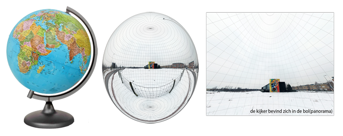Globe versus spherical/sferische virtuele panorama